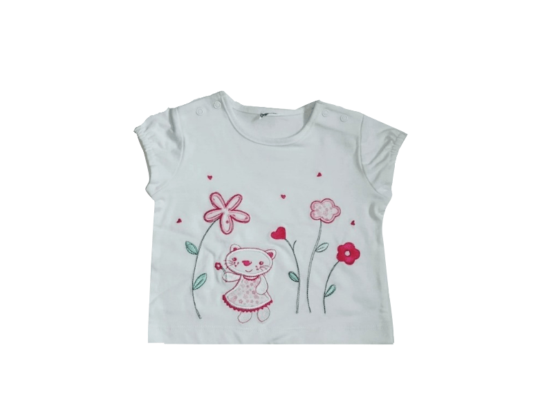Baby Girls White Floral Detail Top