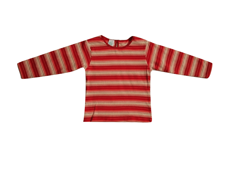 Baby Girls Red Striped Longsleeve Top