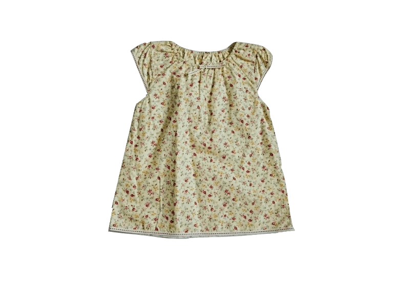 Baby Girls Yellow Floral Sleeveless Top