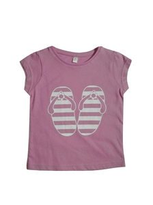 Baby Girls Flip Flop Pink T-Shirt
