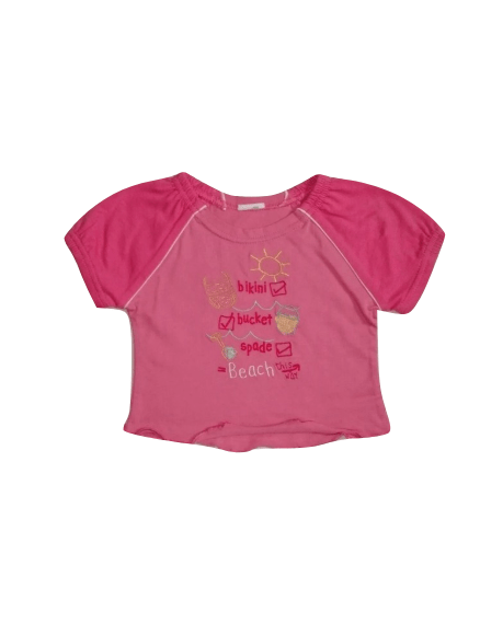 Baby Girls Beach Life Pink Top