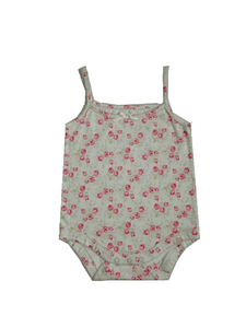 Baby Girls Floral Sleeveless Bodysuit Top