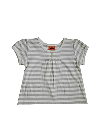 Minimode Baby Girls Grey/White Top - Stockpoint Apparel Outlet