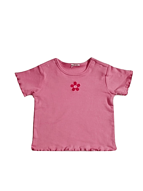 Baby Girls Sunflower Detail Pink Top