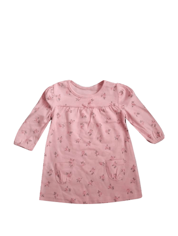 George Pink Floral Detail Baby Girls Dress - Stockpoint Apparel Outlet