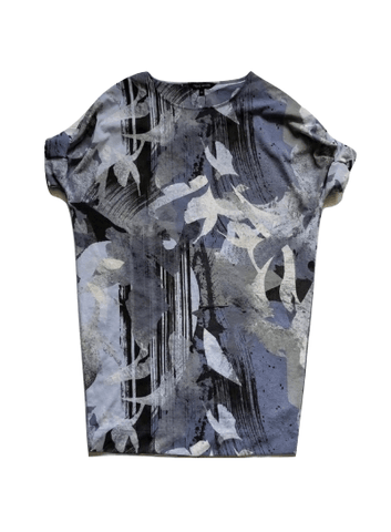 Next Petite Womens Blue Print Dress