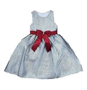 American Princess Girls Black & White Stripe A-Line Dress