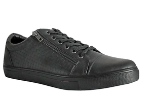 Eve & Adam Mens Black Leather Low Sneakers