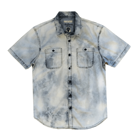 Joe Browns Blue Acid Wash Tie Dye Mens Shirt