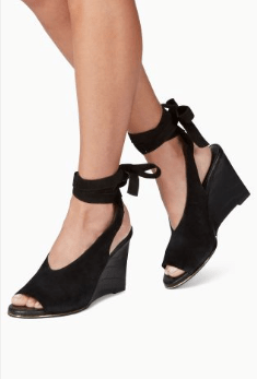 Next Black Leather Suede Wrap Womens