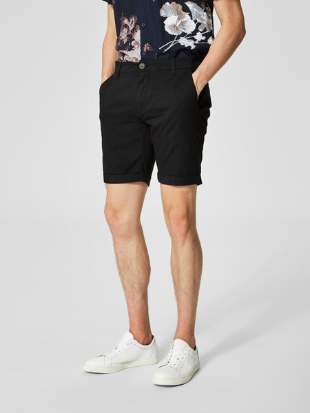 Selected Homme Shhparis Black St Shorts - Stockpoint Apparel Outlet