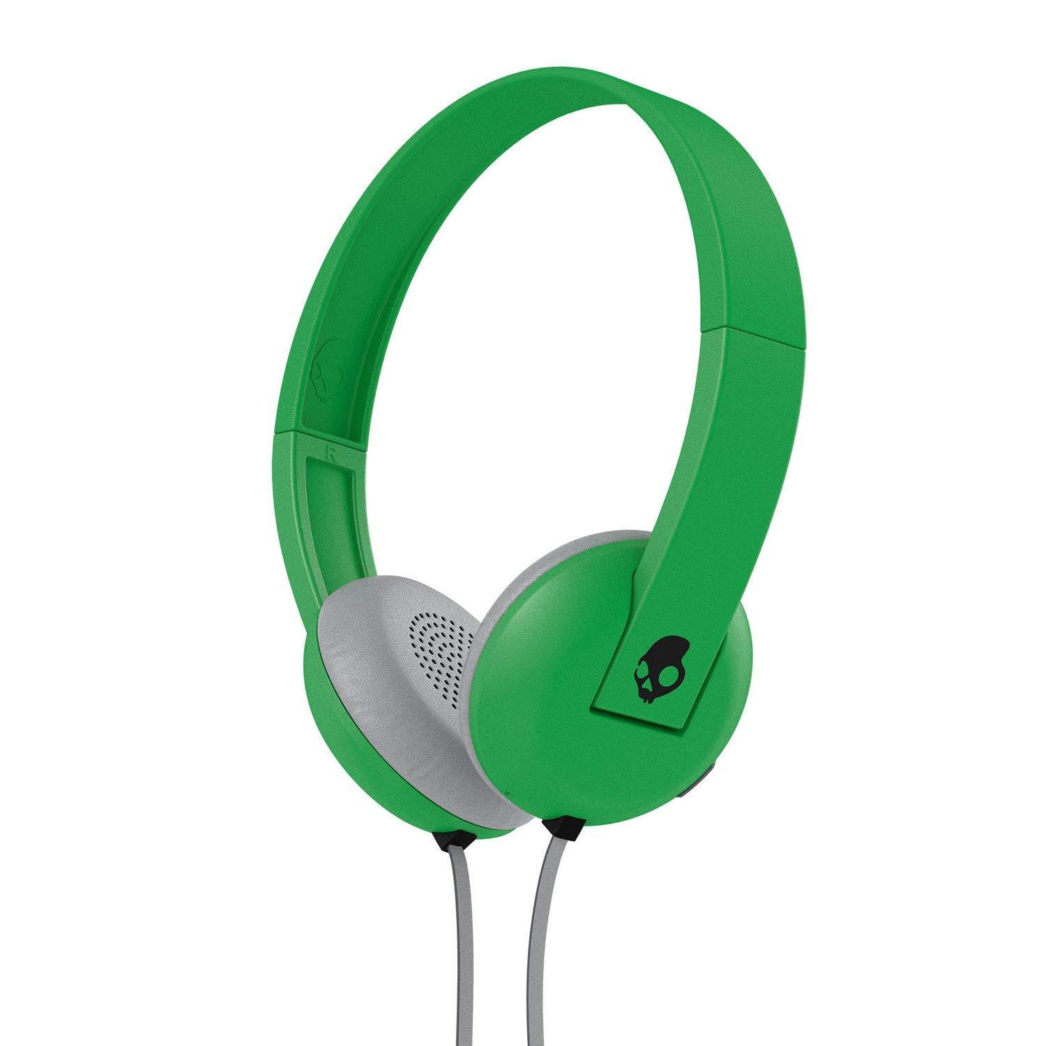 Skullcandy Uproar On-Ear Headphones with Built-in Mic and Remote, Ill Famed Green