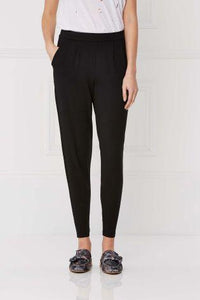 Next Womens Tapered Leg Black Trousers
