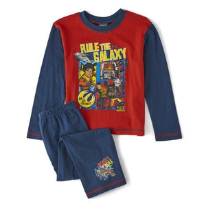 Star Wars Boy's Rule The Galaxy Pyjamas - Blue/Red - Stockpoint Apparel Outlet