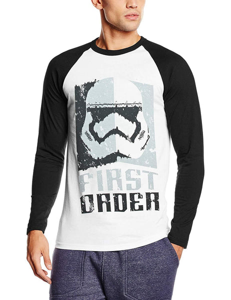 Star Wars Mens First Order Stormtrooper Head Grey T-Shirt