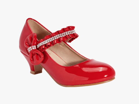 Truffle Collection Girls Red Belly Party Shoes
