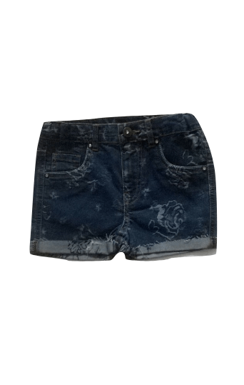 TU Floral Detail Navy Blue Jeans Shorts - Stockpoint Apparel Outlet