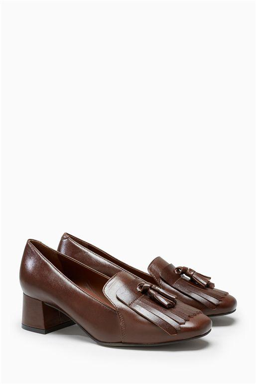 Next Tan Womens Loafers