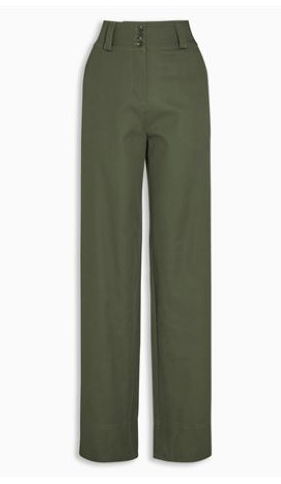 Next Womens Khaki Wide Leg Trousers