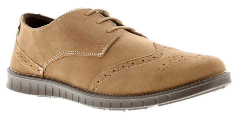 Wynsors Rocky Casual Wing Tip Toe Brown Brogues Shoes