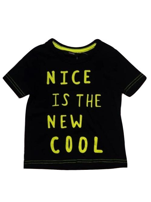 "George ""Nice is the new cool"" Black T-Shirt - Stockpoint Apparel Outlet"