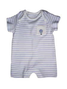 Purple/White Striped Boys Romper