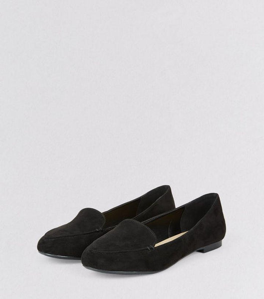 New Look Womens/Girls Black Suedette Stitch Detail Loafers