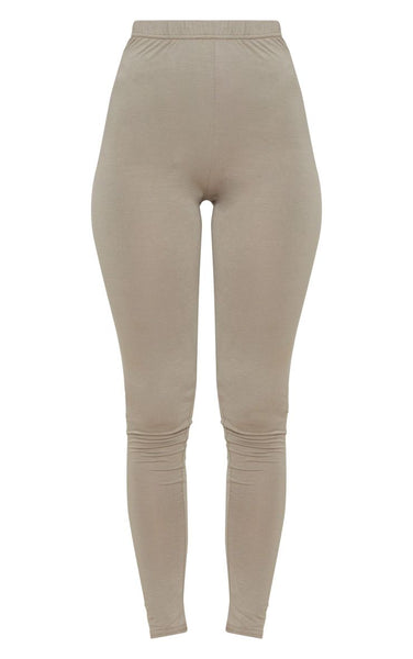 PrettyLittleThing Womens Taupe Basic Jersey Legging