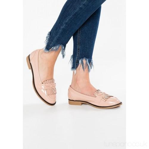 Dorothy Perkins Womens Lotty Slip-on Nude Fringe Loafers