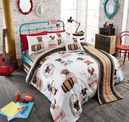 Gaveno Modula King Size 5 Piece Bed Set Pug Fashion