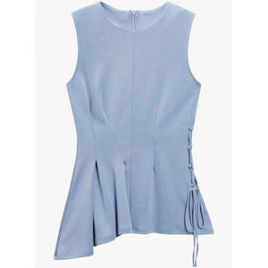 Next Womens Blue Asymmetric Top