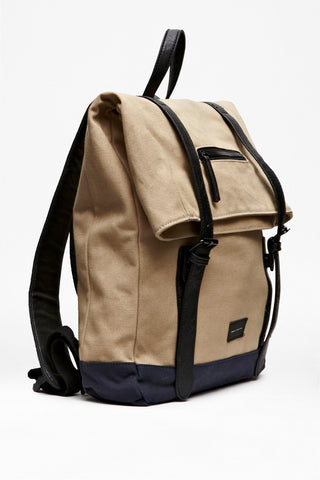 French Connection Mens Natural Roll Top Backpack