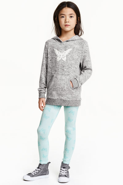H&M Mint Green Butterflies Jersey Leggings - Stockpoint Apparel Outlet