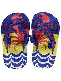 George Crab Print Striped Unisex Sandals - Stockpoint Apparel Outlet