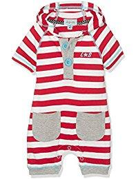 Lilly and Sid Baby Stripe Hooded Romper