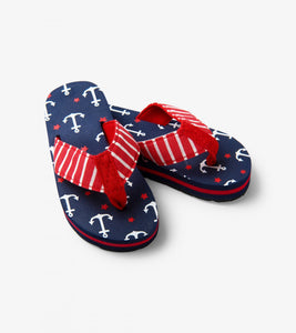 little BLUE HOUSE by Hatley Anchors Kids' Flip Flops