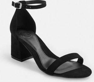 Missguided Black Block Barely There Womens Mid Heels