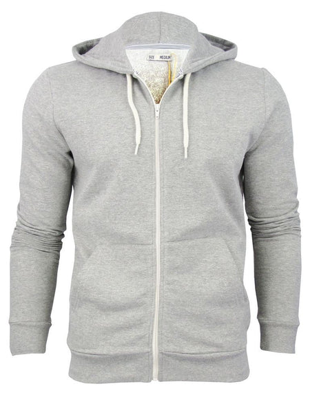 Brave Soul Mens Grey Hoodie Sports Jumper