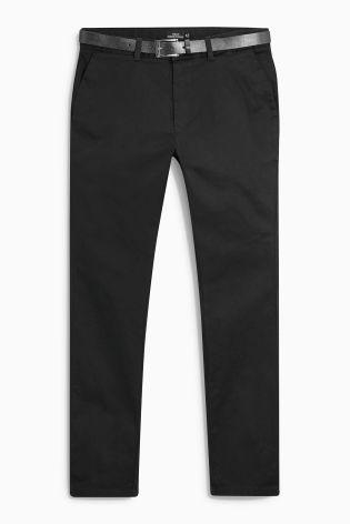 Next Men's Straight Chinos Black