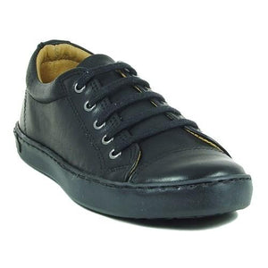 Petasil Peel Black School Shoe