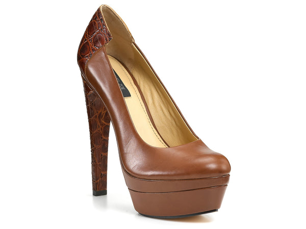 Rachel Zoe Annie Croc - Brown - Stockpoint Apparel Outlet