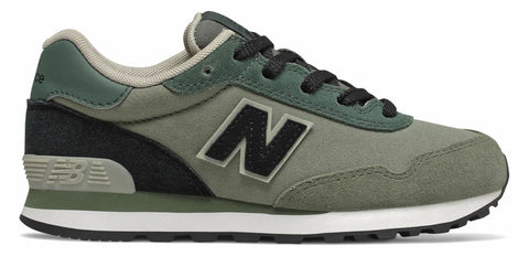 New Balance 515 Green with Black Unisex Boys / Girls Canvas