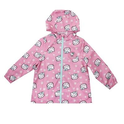 Hello Kitty Girl's Hearts Long Sleeve Rain Coats - Stockpoint Apparel Outlet