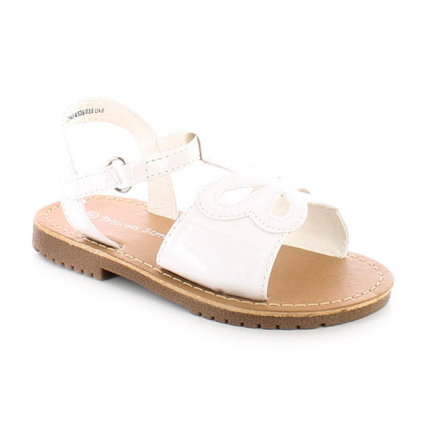Princess Stardust Maisie Girls White Sandals