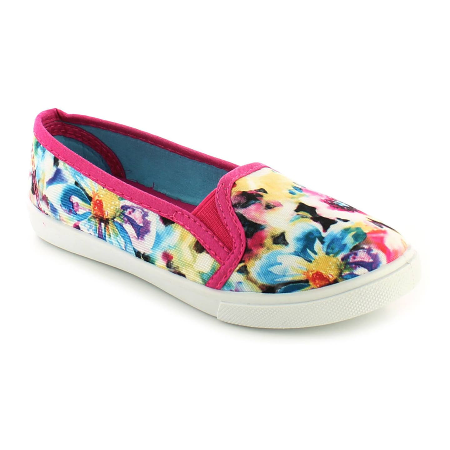 Platino Voila Floral Girls Canvas Pumps