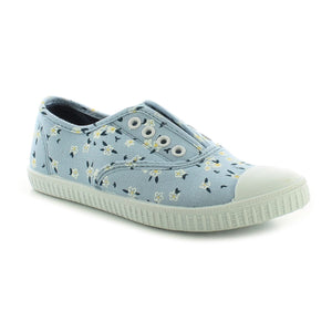 Miss Riot Ivy Girls Blue Floral Slip on Canvas