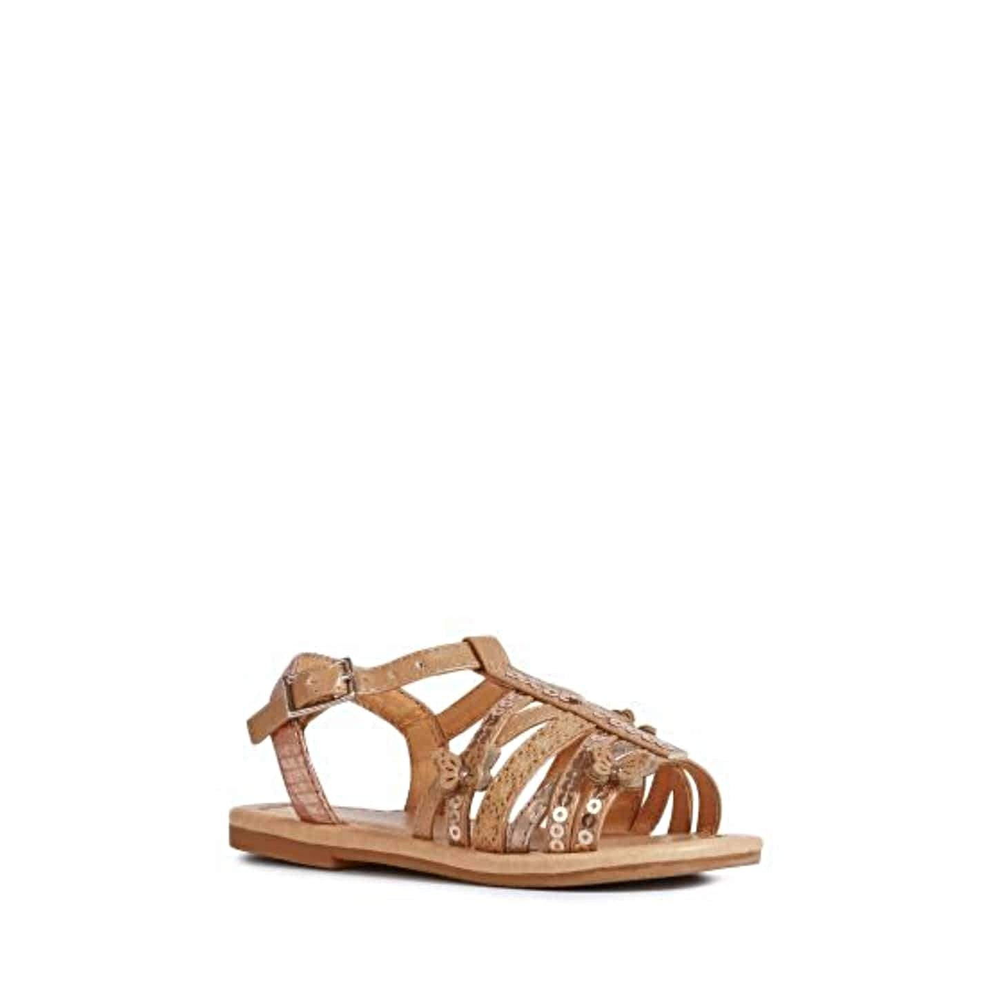 Next Girls Tan Butterfly Sandals