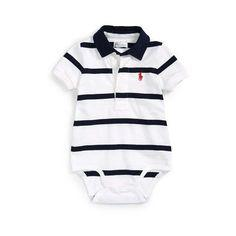 Ralph Lauren Cotton Rugby Bodysuit - White