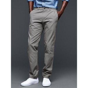 GAP Slim Fit khaki - Grey - Stockpoint Apparel Outlet