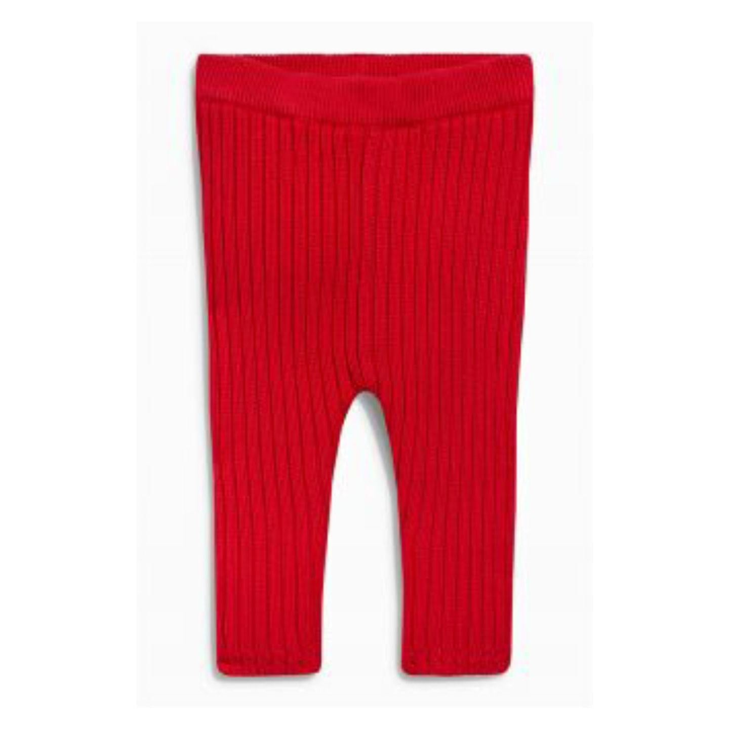 Next Red Knitted Leggings - Stockpoint Apparel Outlet